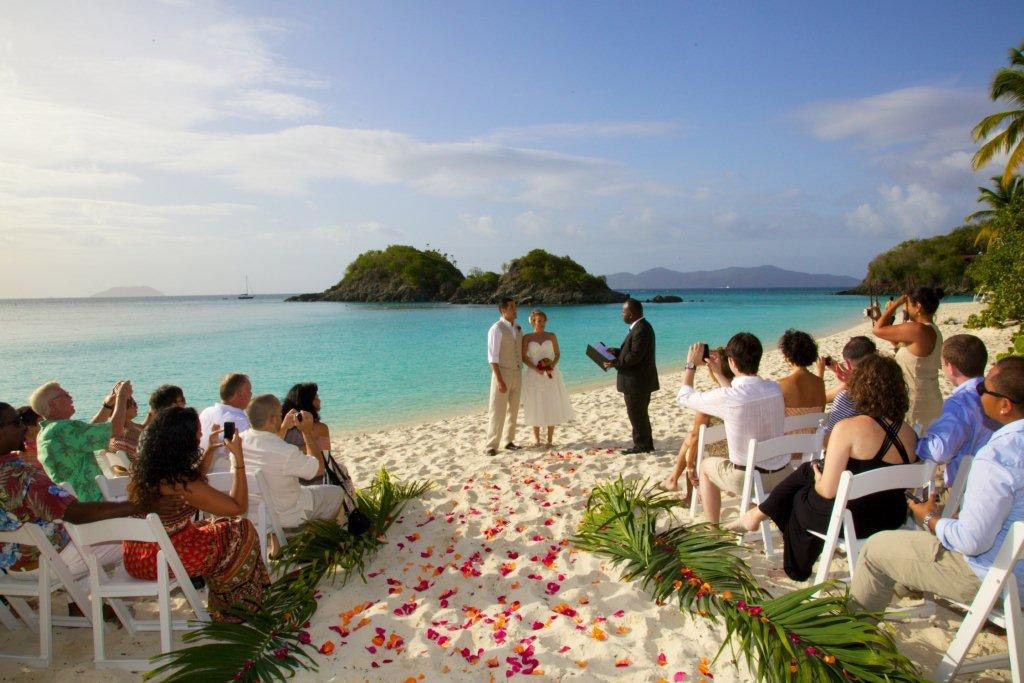 Getting Married On The Beach With Flowers In Aisle My