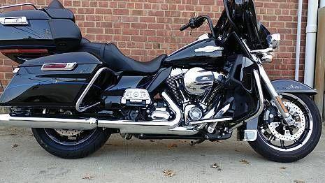 eBay: 2015 Harley-Davidson Touring 2015 Harley Davidson Ultra Classic LTD Peace Officer 10K Miles Detach Tourpak #motorcycles #biker