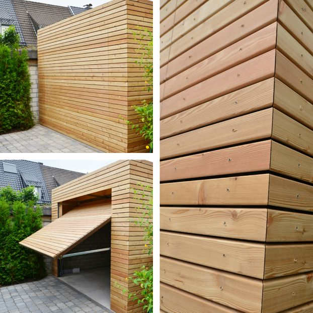 Modern Garage Doors In An Astonishing Protection: OS Garage Door Provides Shade W Open