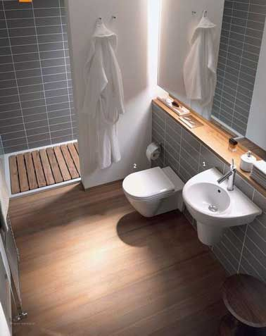 Conseils déco pour optimiser une petite salle de bain House and - peinture pour carrelage mural