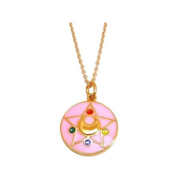 Sailor Moon R Crystal Star Silver Necklace Coated in Gold Exclusive -... (3.345 ARS) ❤ liked on Polyvore featuring jewelry, necklaces, accessories, star jewelry, crystal necklace, yellow gold jewelry, silver jewellery and crystal stone necklace