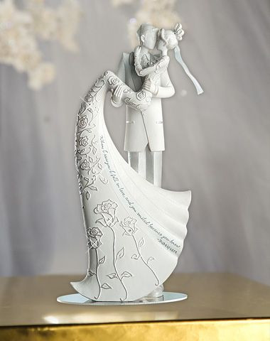 Wedding Cake Topper Kiss When I Saw You I Fell In Love