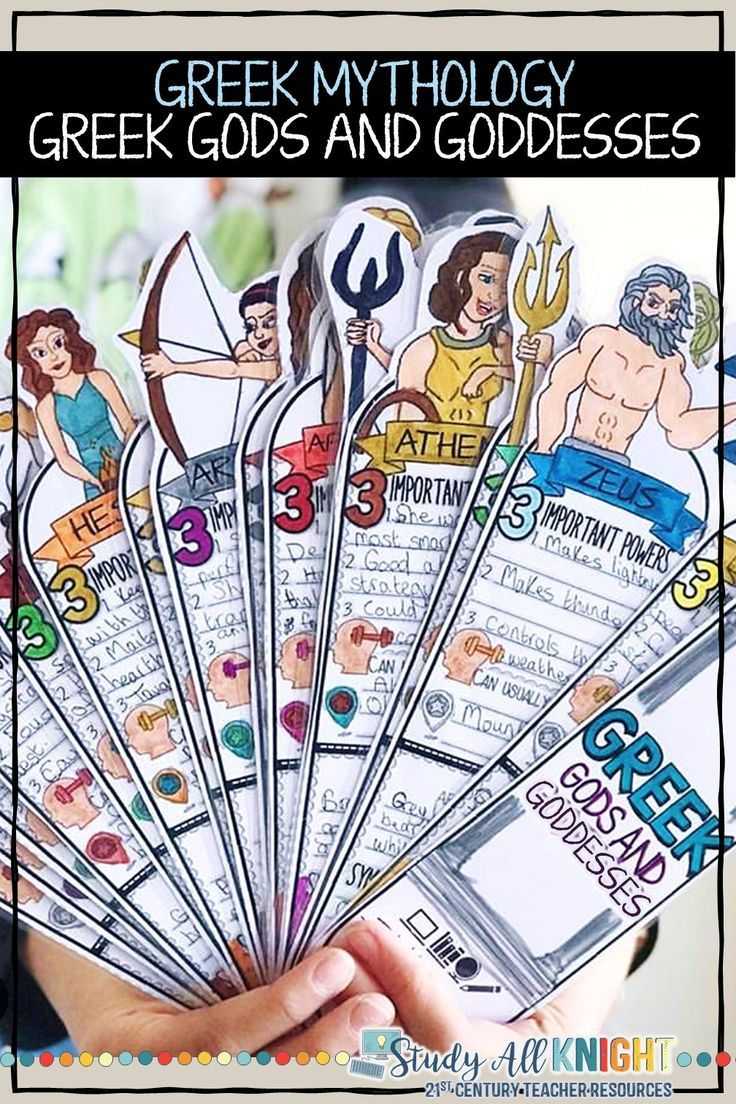 Photo of Greek Mythology Activity, Greek Gods, Facts Fill in, Interactive Fan