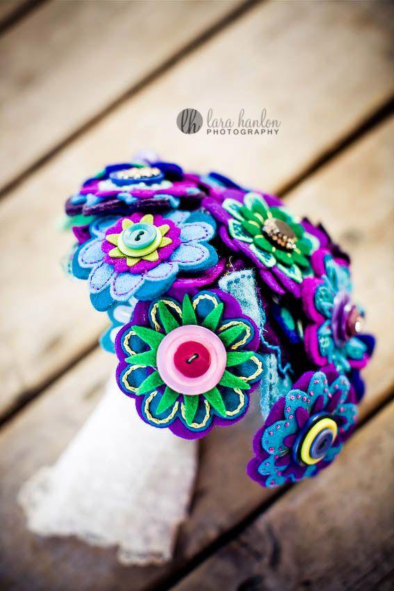 Bouquet de flores de feltro