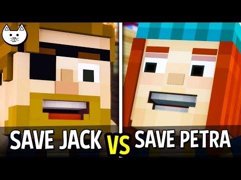 Save Petra Vs Save Jack Minecraft Story Mode Season 2 Episode 1