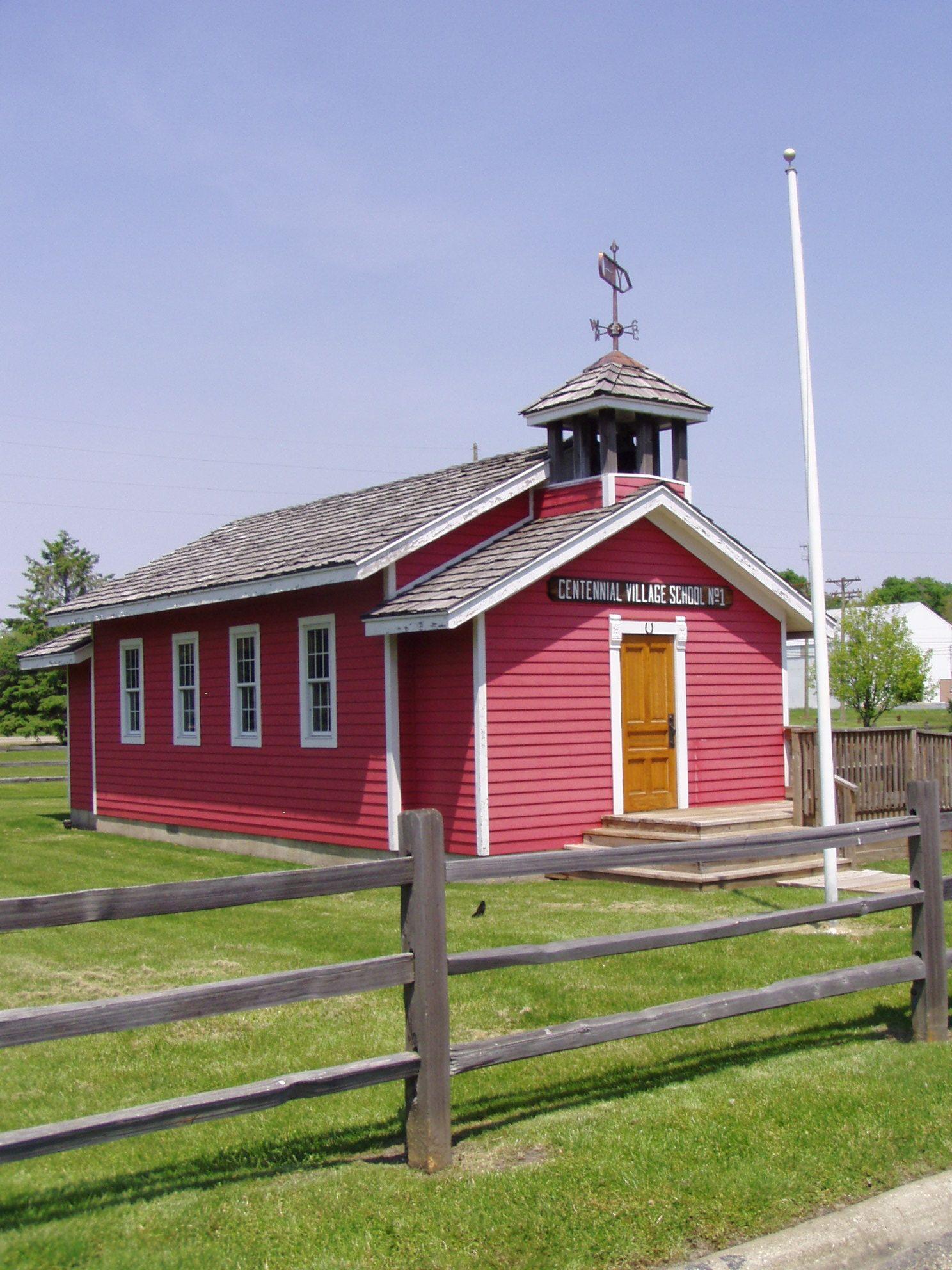 The Little Red Schoolhouse Centennial Park Rock Falls