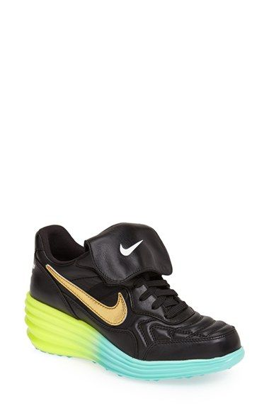 Nike 'LunarTiempo Sky Hi' Leather Wedge Sneaker (Women) available at # Nordstrom