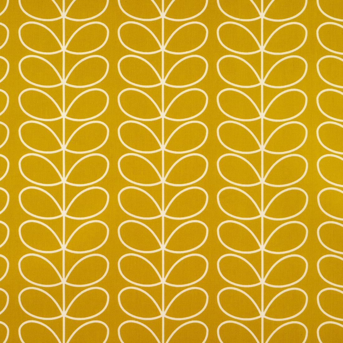 Orla Kiely Linear Stem Dandelion Mustard Yellow Oilcloth #mustardyellow