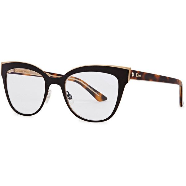 518bb40eb66 Christian Dior Montaigne 11 black cat-eye optical glasses ( 345) ❤ liked on Polyvore  featuring accessories