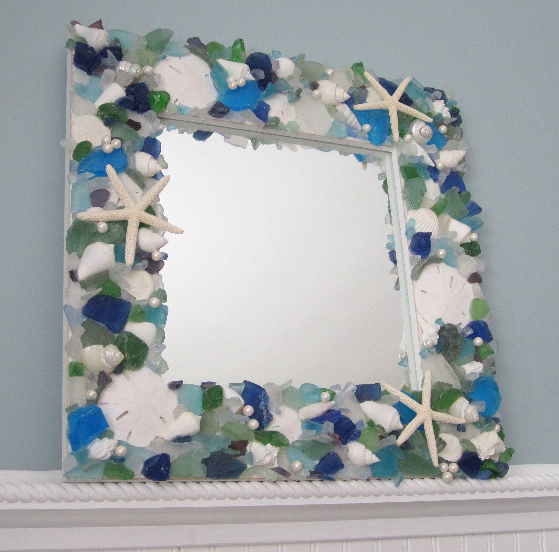 Sea Gl Seashell Mirror Beach Decor