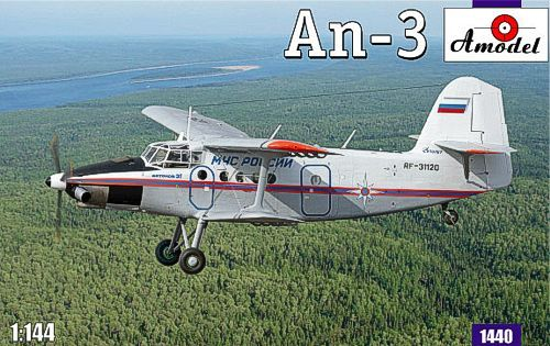 Antonov An-3. A Model, 1/144, injection, No.1440. Price: 10,98 GBP.