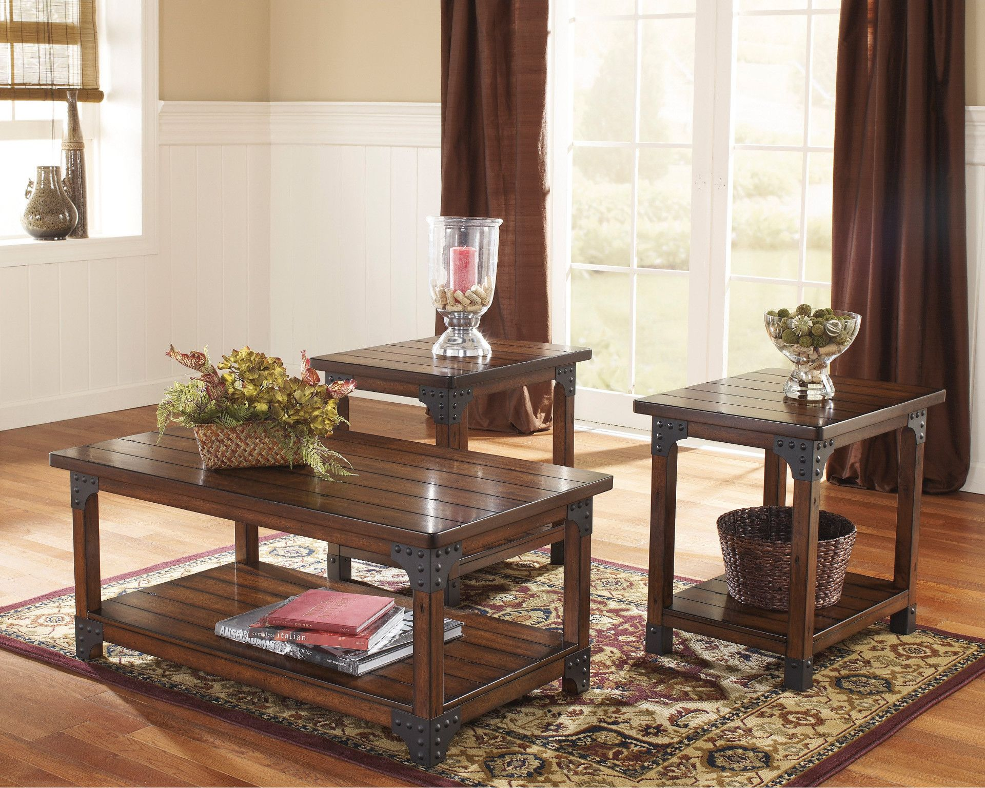 Murphy 3 Piece Table Set Coffee And 2 End Tables By Ashley 349 00 Coffee Table 46 X 26 X 20 H Living Room Table Sets Coffee Table Living Room Table [ 1536 x 1920 Pixel ]