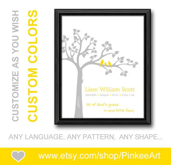 Yellow gray bible verse nursery baptism new mom gift with baby yellow gray bible verse nursery baptism new mom gift with baby stats christian birth announcement personalized negle Image collections