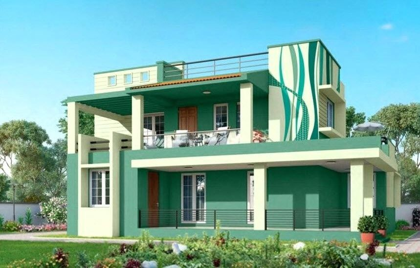 Exterior Wall Painting House Exterior Exterior Paint Wall Paint Colour Combination