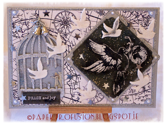 Doves of Peace - handcrafted Christmas card