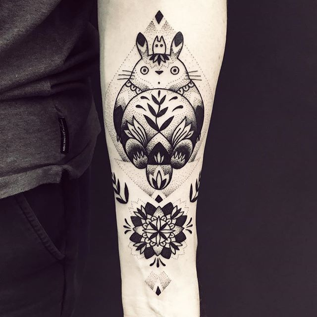 blue noir violette studio ghibli tattoo totoro body art pinterest studio ghibli. Black Bedroom Furniture Sets. Home Design Ideas