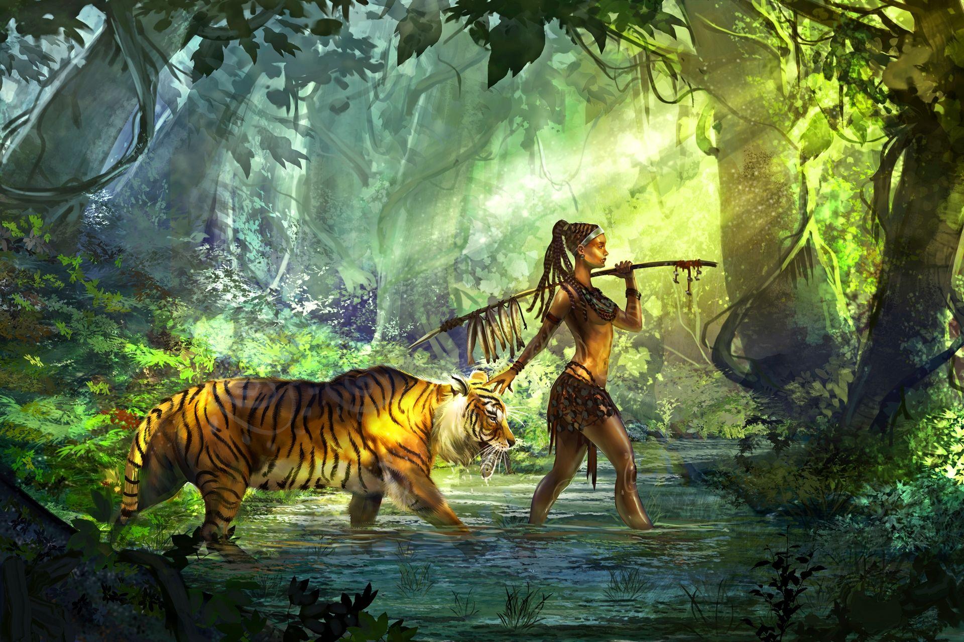 него картинки фэнтези и тигры утюгом