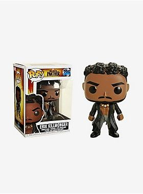tolerancia Pulido Perforación  Funko Pop! Marvel Black Panther Erik Killmonger Vinyl Figure