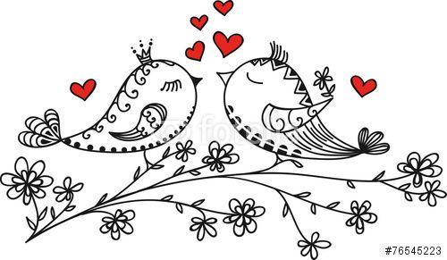 30 Wektor: LOVE BIRDS, VALENTINE`S DAY, HEARTS