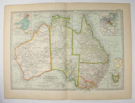 antique australia map vintage old tasmania 1899 travel map unique christmas gift under 20 gift for home office anniversary wedding prop by oldmapsandprints