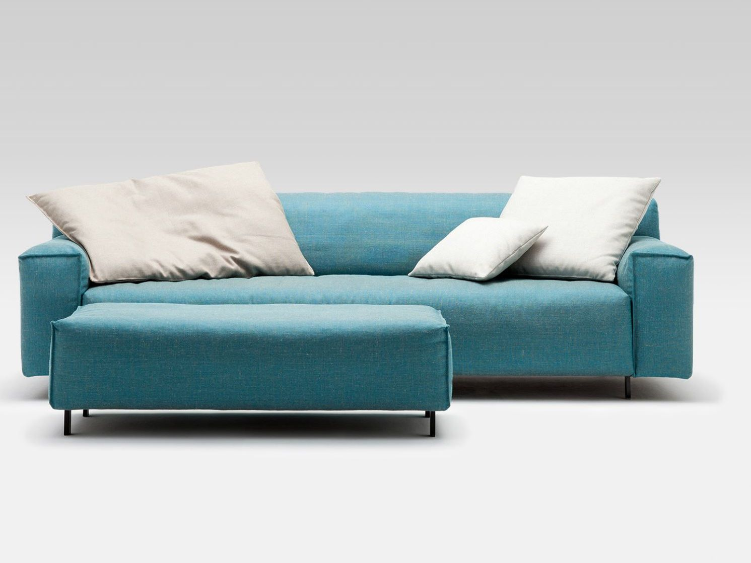 comfortable rolf benz sofa. Comfortable Rolf Benz Sofa In Blue With White Cushions .