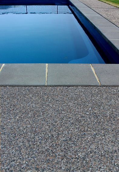 Yarra Exposed Aggregate Mix Poolside Www Mawsons Backyard Pool Landscaping Swimming