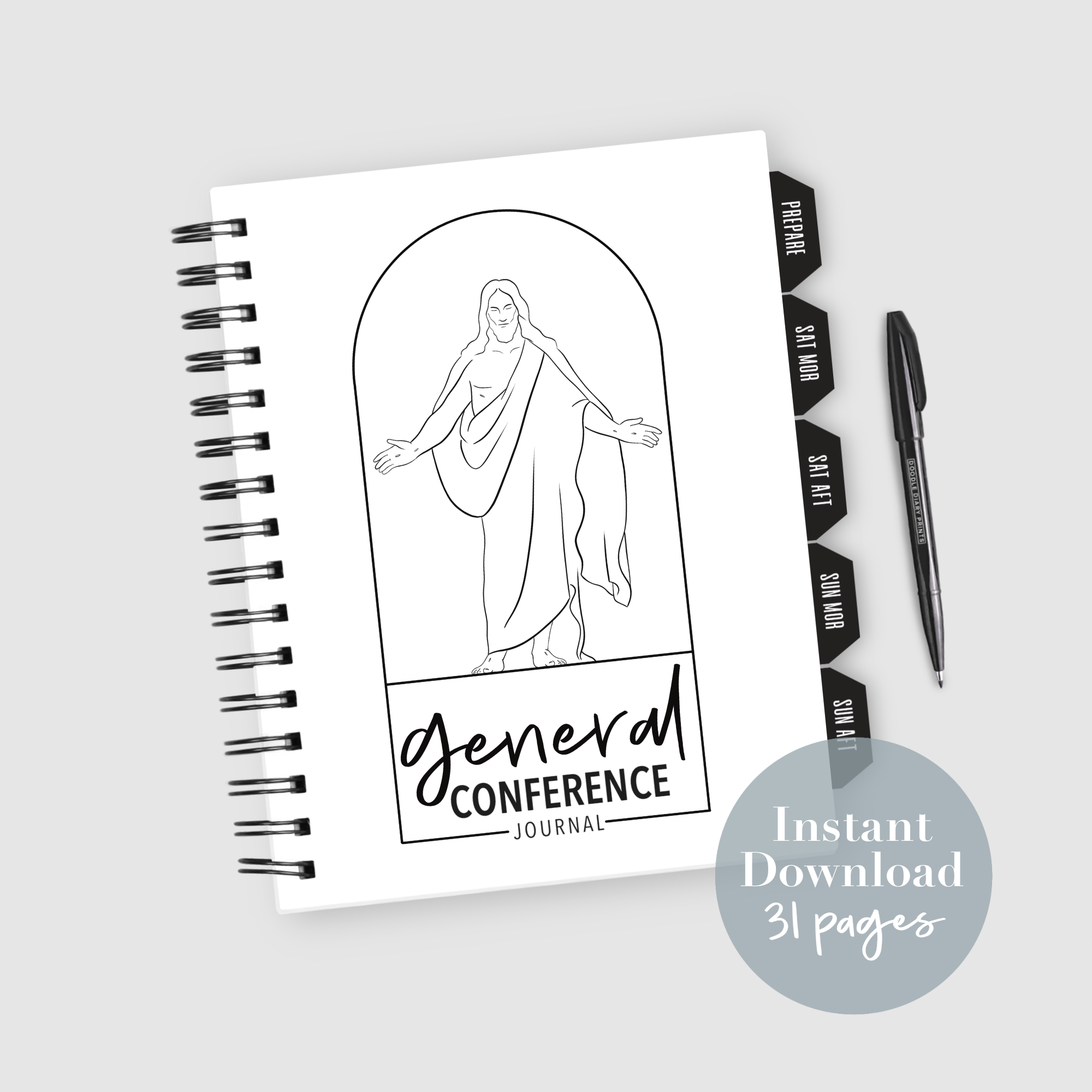 Oct 2020 Lds General Conference Journal Instant Download In 2020 General Conference Lds General Conference General Conference Printable