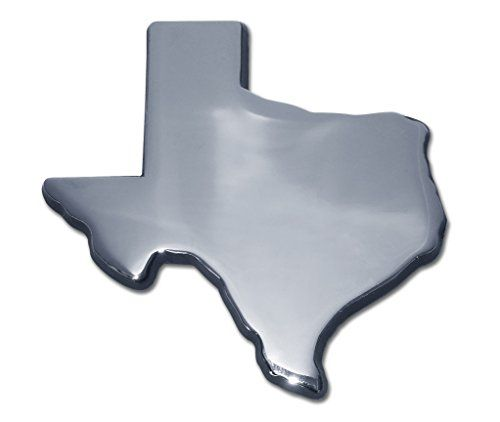 Texas Shape Chrome Auto Emblem Elektroplate