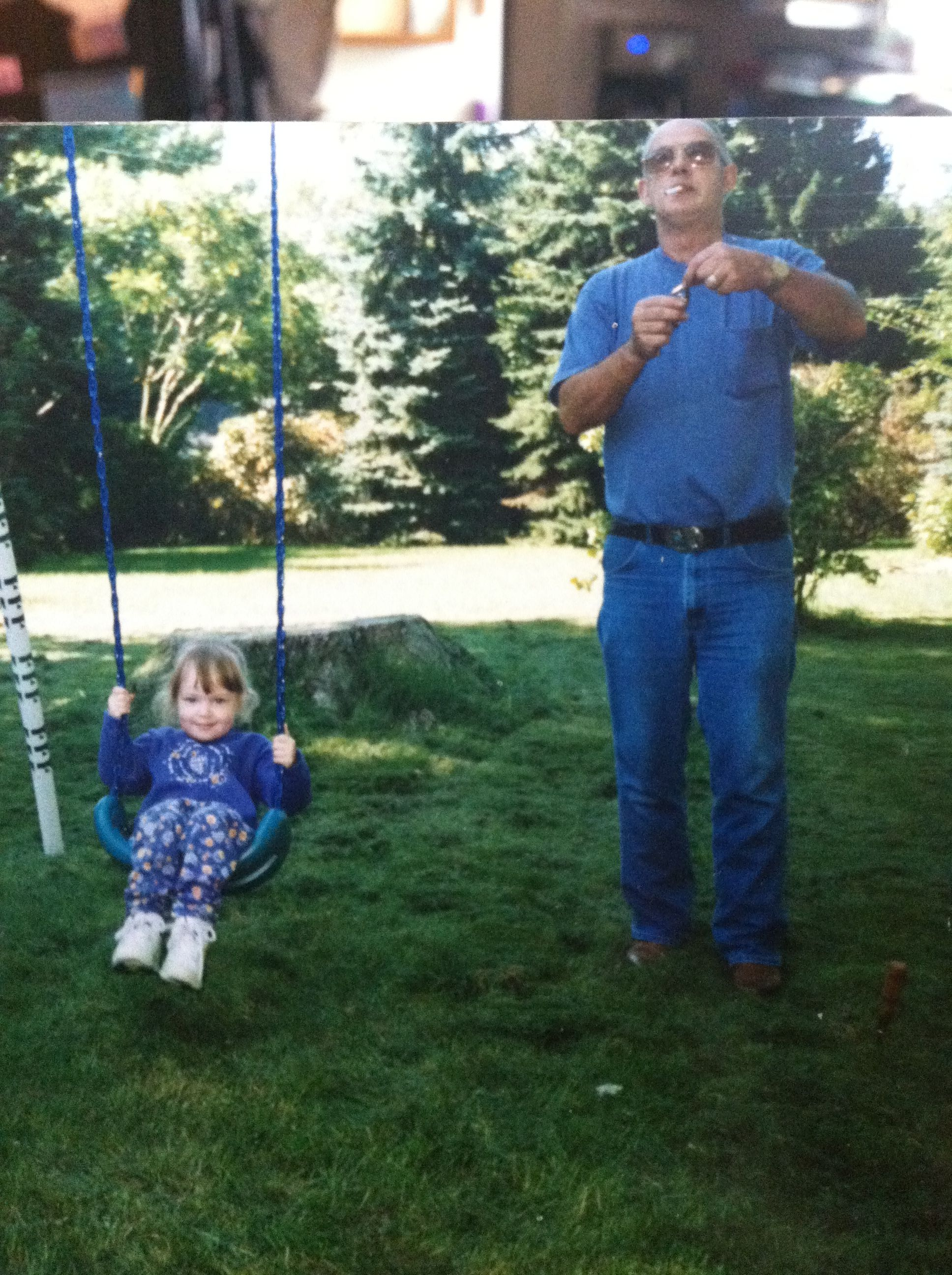 Grandpa Millis Putting Up My Swing Set For Me When I Was A Little Baby Swing Set Little Babies