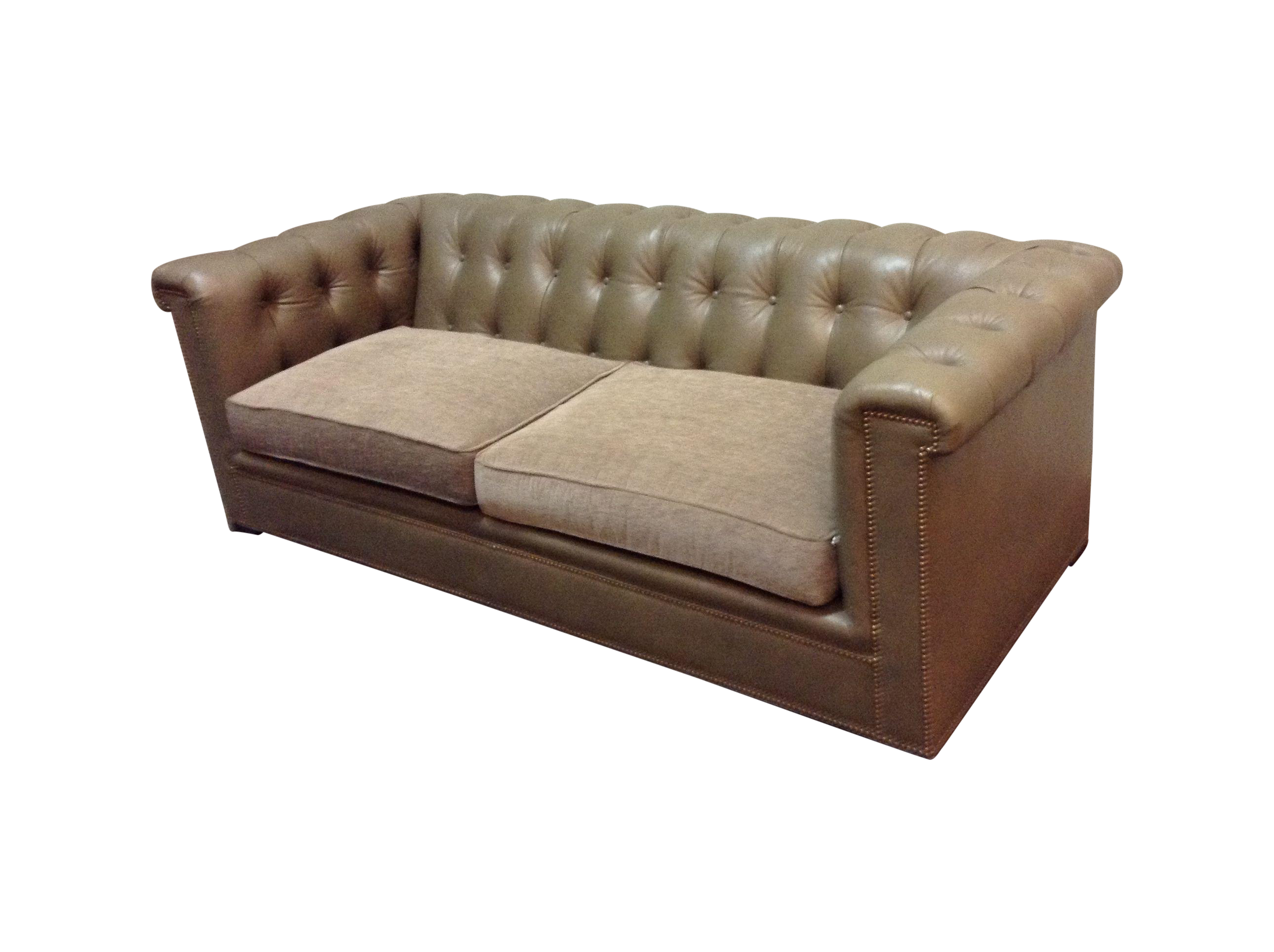 Hickory Chair Kent Tufted Leather Sofa on