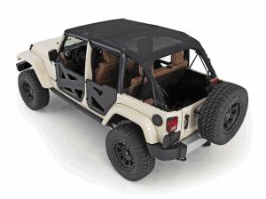 Smittybilt Jeep Wrangler Mesh Extended Top 94500 07 09 Jeep Wrangler Jk 4 Door Jeep Wrangler Smittybilt Jeep Wrangler Jk