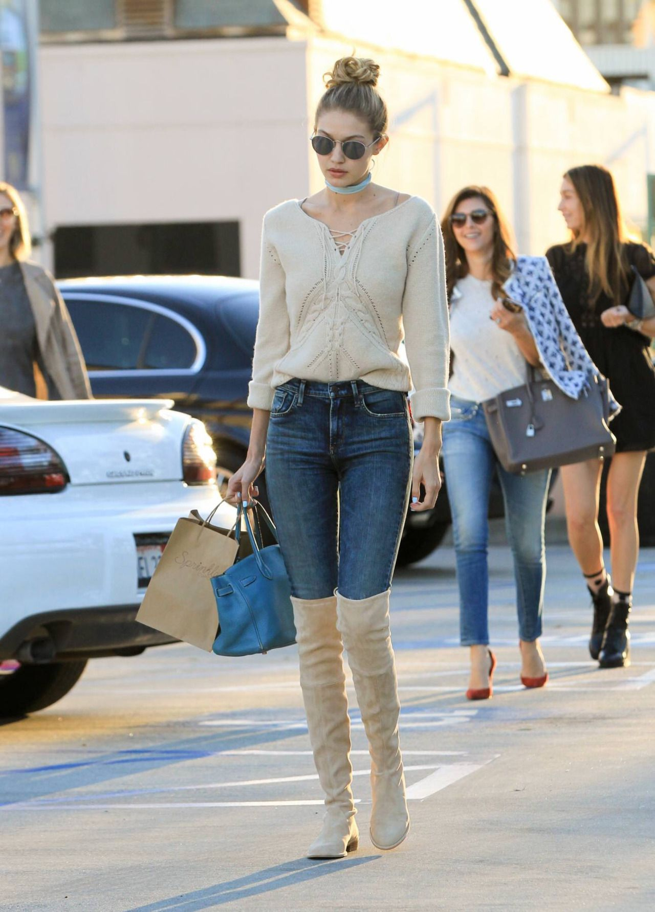 November 17: Gigi Hadid out and about in Los Angeles, California.