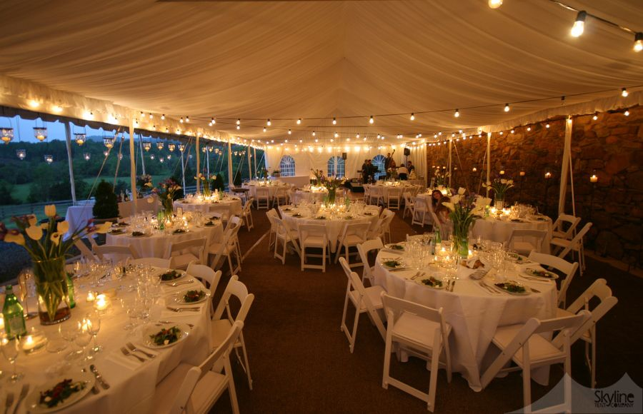 Tent Lighting Quot Bistro Quot Lights Hanging Glass Votives
