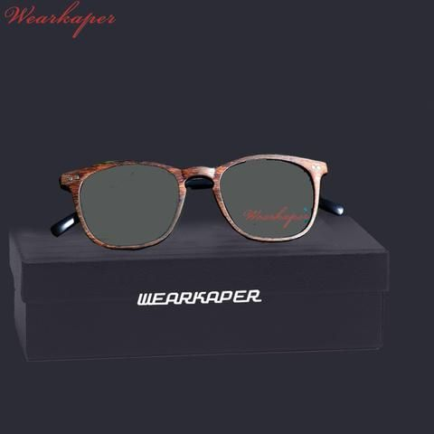 a4d3795b4a1c WEARKAPER Resin Wood grain Transition Photochromic Reading Glasses Women  Presbyopia diopters Gafas de lectura leesbril
