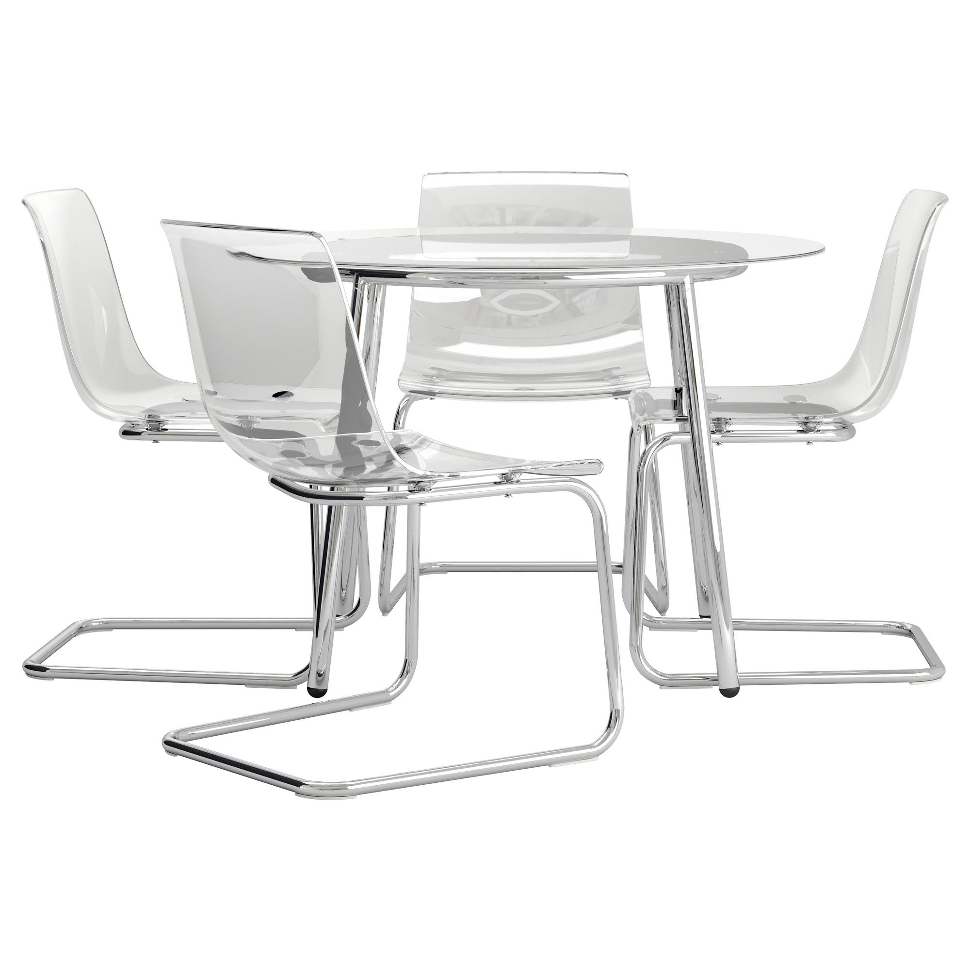 Us Furniture And Home Furnishings Acrylic Dining Chairs Glass
