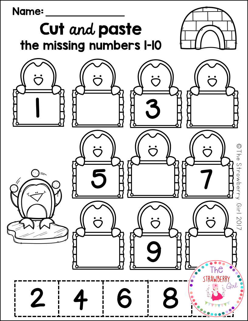 The Winter Math Worksheets Packet Is Filled With Fun And Adorable Math Worksheets Kindergarten Math Worksheets Preschool Math Worksheets Kindergarten Math Free