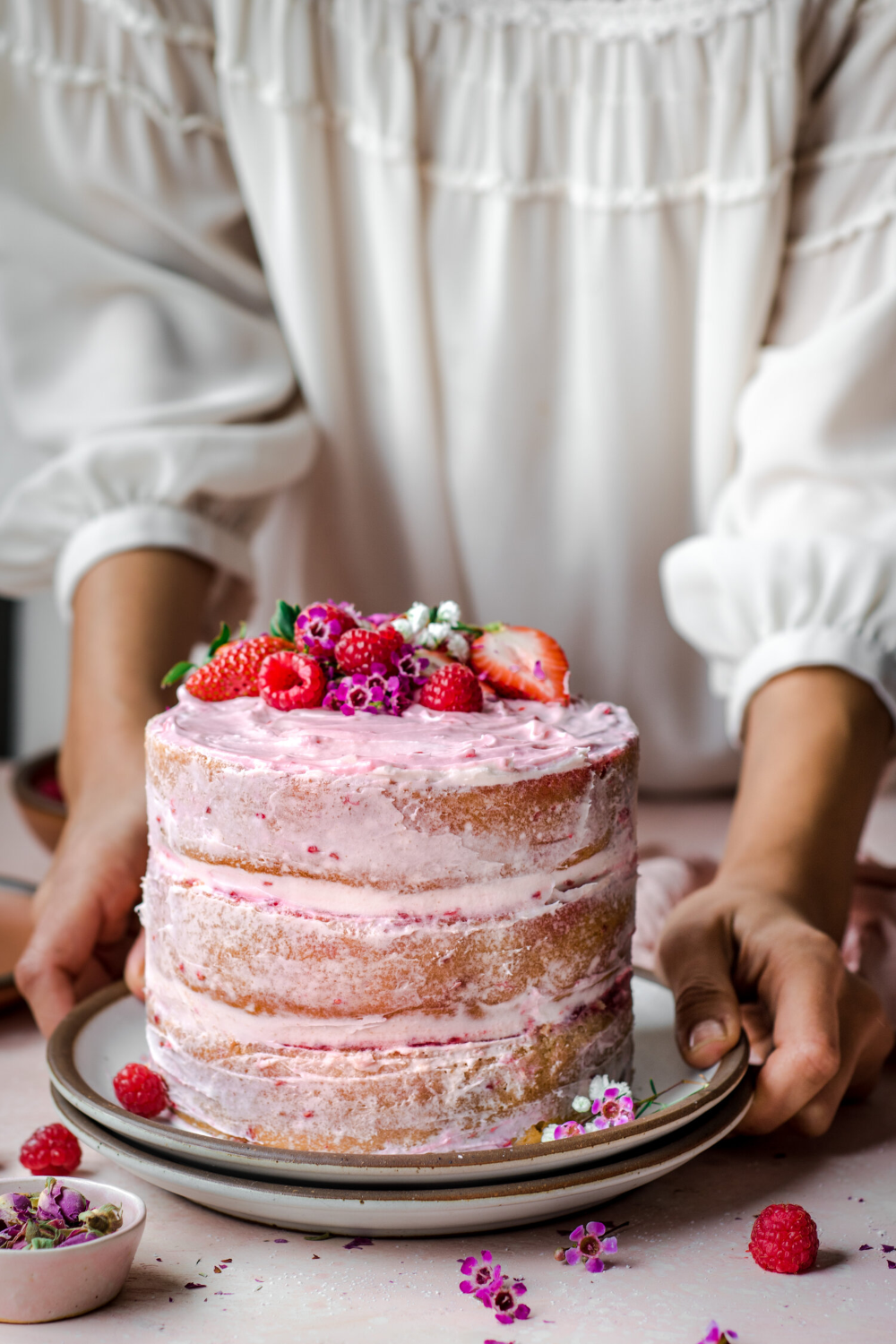 Vegan Vanilla Layer Cake with Raspberry Jam — Rainbow Plant Life