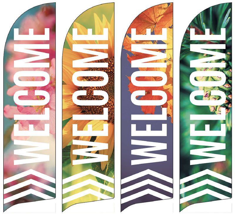 Chevron Welcome Season Set Banner Outreach Banner Banner Design Inspiration Church Banners