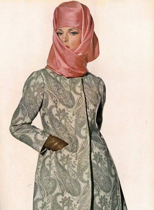 CRISTOBAL BALENCIAGA  Vogue US, February 1965 Photographer: Irving Penn Model: Mirelli Pettini Coat by Balenciaga