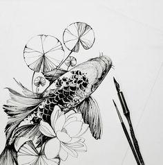 R sultat de recherche d 39 images pour dessin de carpe pour for Recherche carpe koi donner