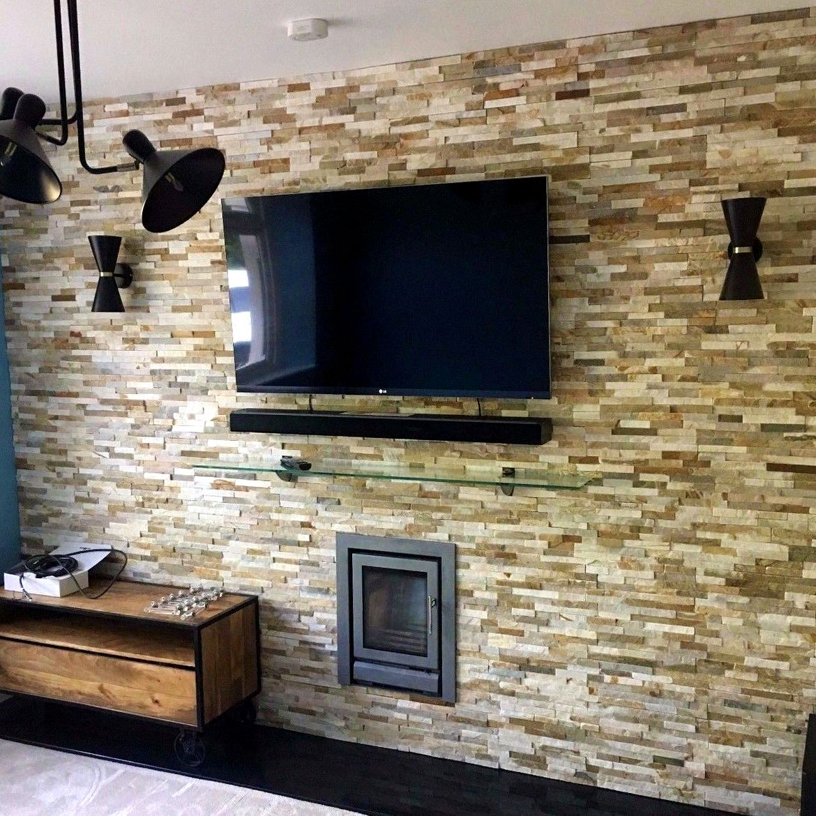 Living Room Translate To Indo: Refresh Your Living Room With Cladding! This Stone