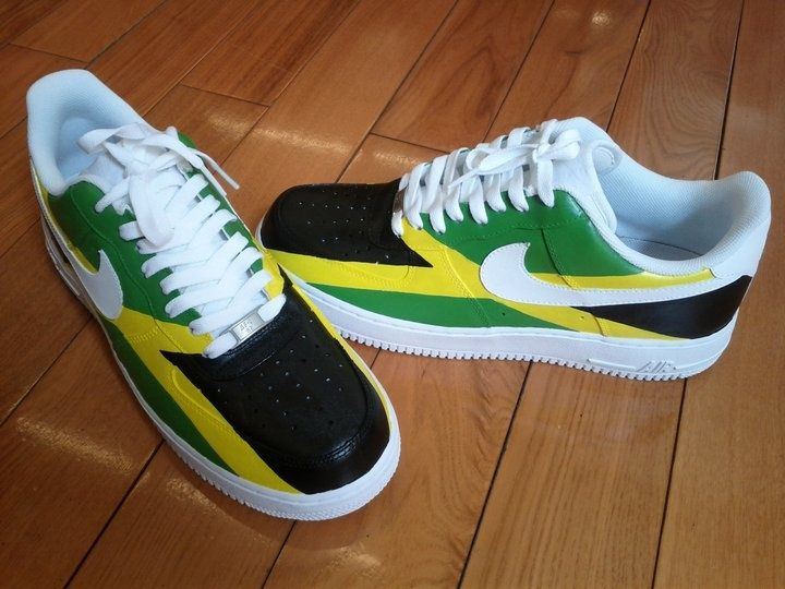 Jamaican Colored Nike Shoes
