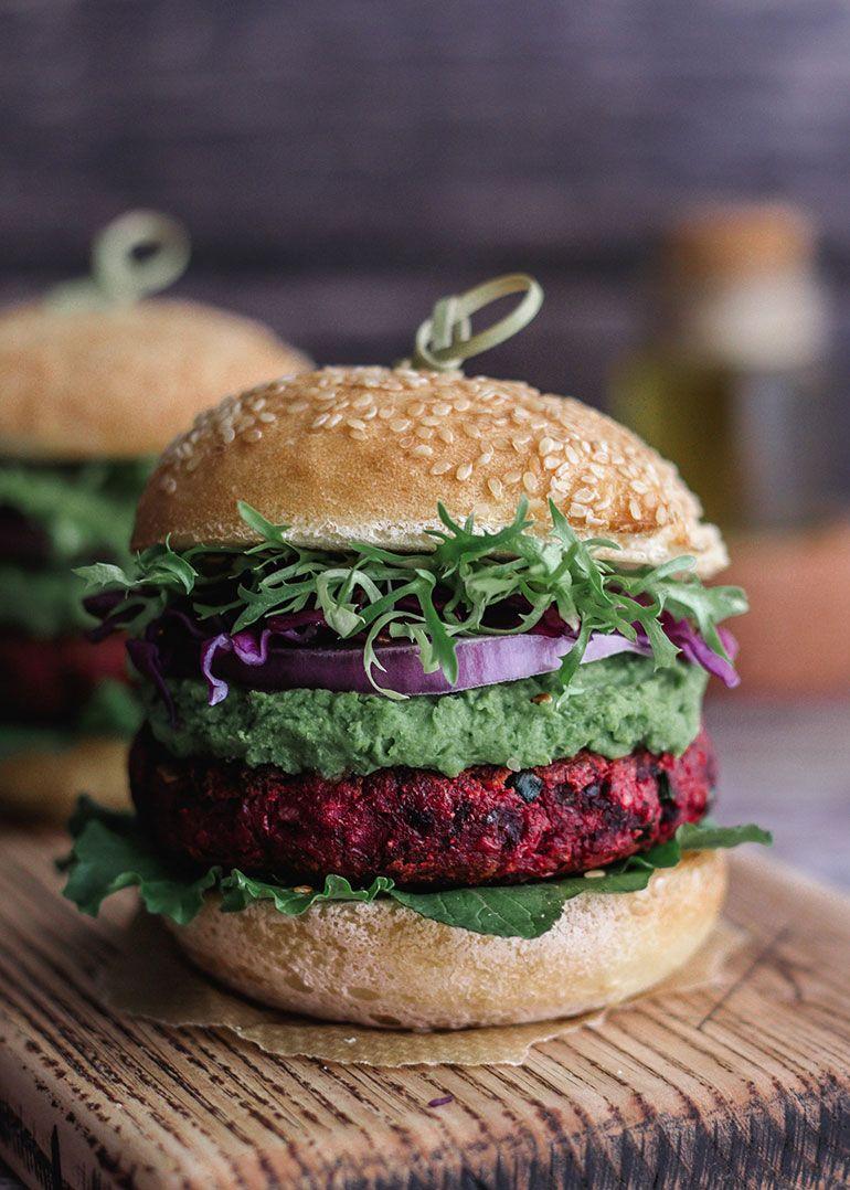 Chickpea Beet Veggie Burgers Recipe Beet Veggie Burger Veggie Burger Beet Burger