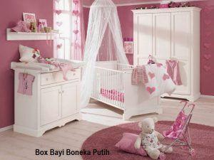 Box Bayi Boneka Putih Dengan Gambar