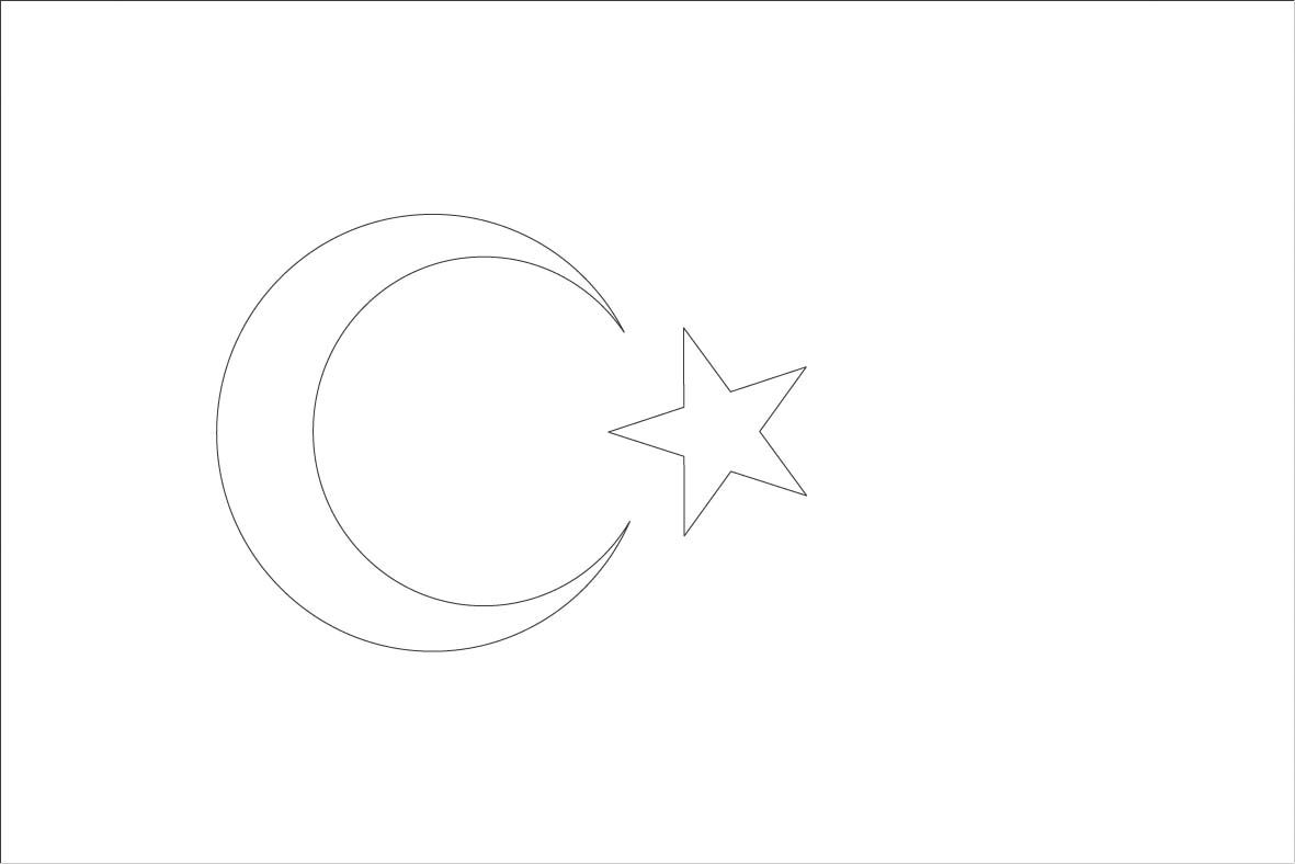 turkey flag coloring page continent studies europe pinterest