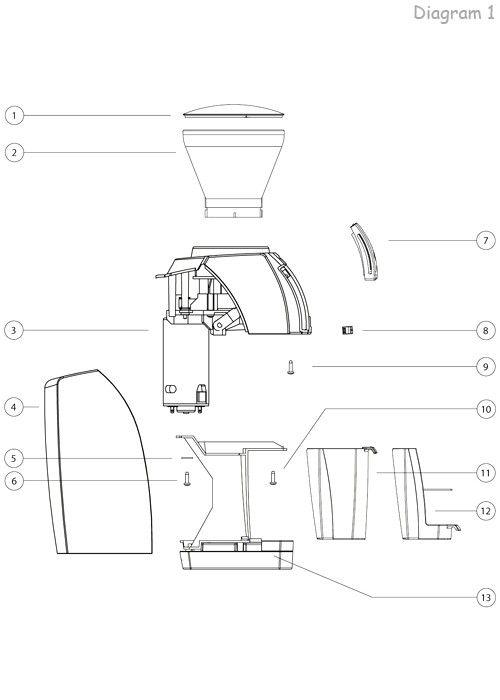Rancilio Silvia V3 - Parts Diagram | Part Diagrams | Pinterest ...