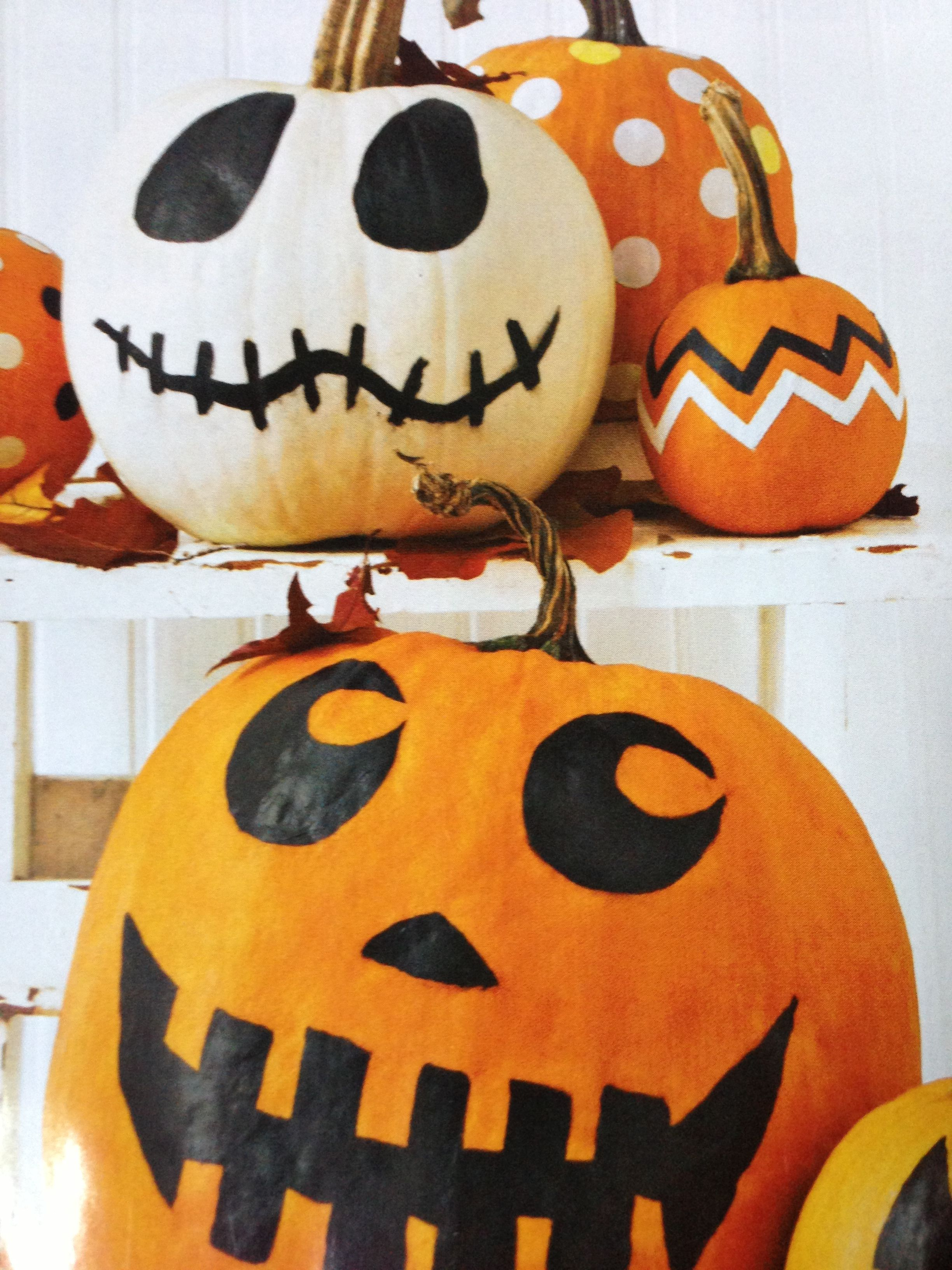 Painted Pumpkins Use Acrylic Paints Sharpies Or Spray Paint And On Gloss Sealer