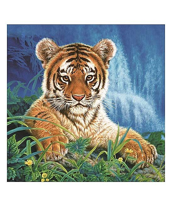 Tiger in Grass DIY Rhinestone Painting Canvas Art Set