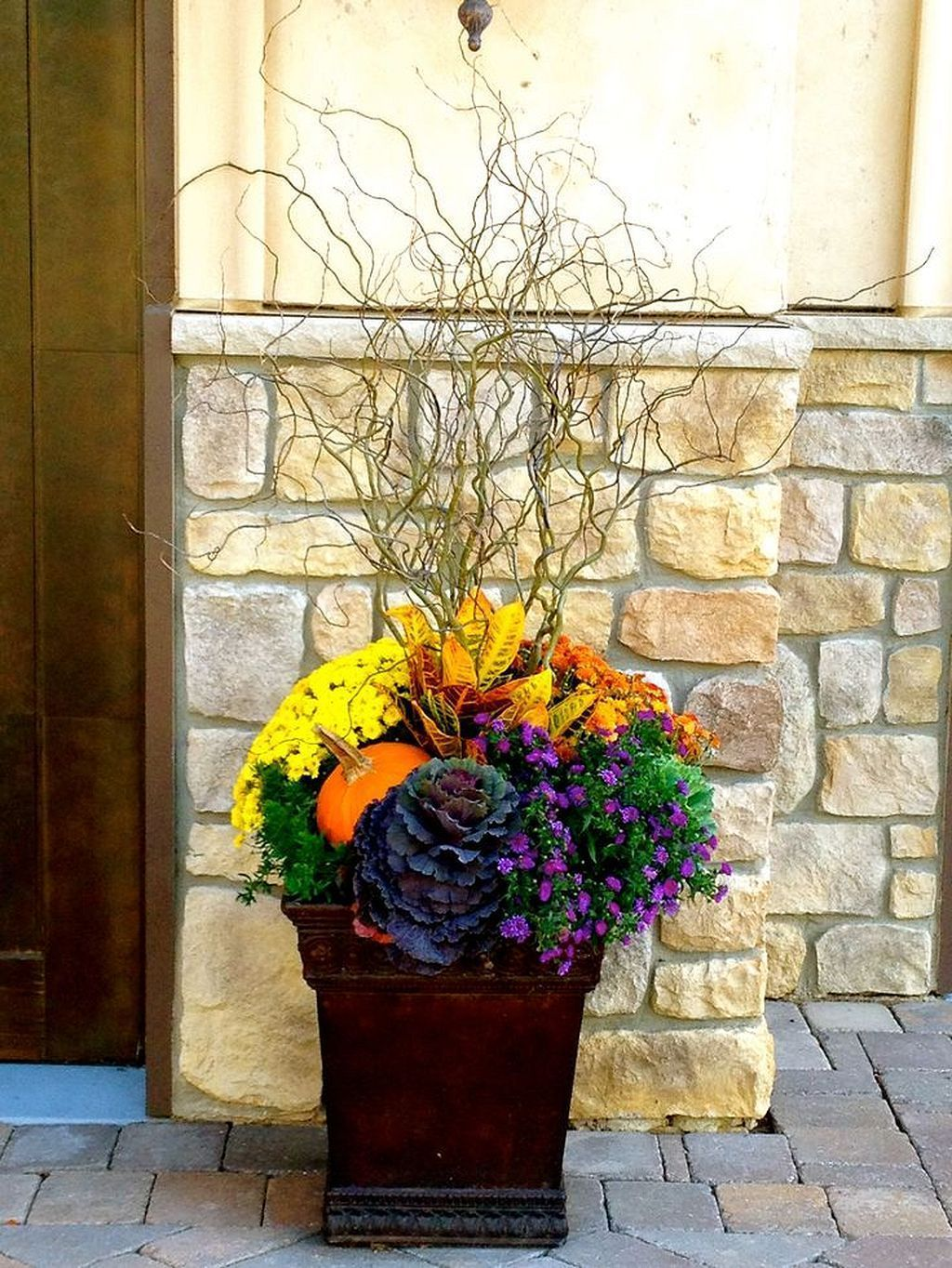 Simple Container Garden Flowers Ideas(51) | Fall planters ...