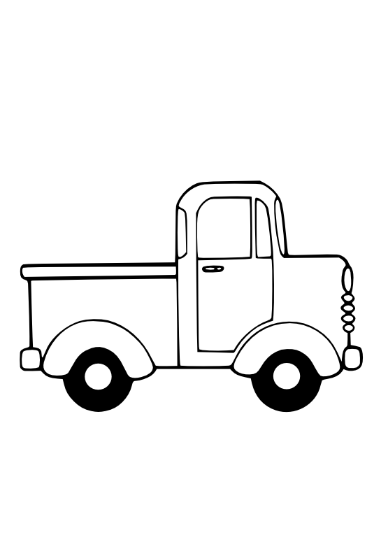 Truck Clip Art Black And White Truck Coloring Pages Clipart Black And White Coloring Pages